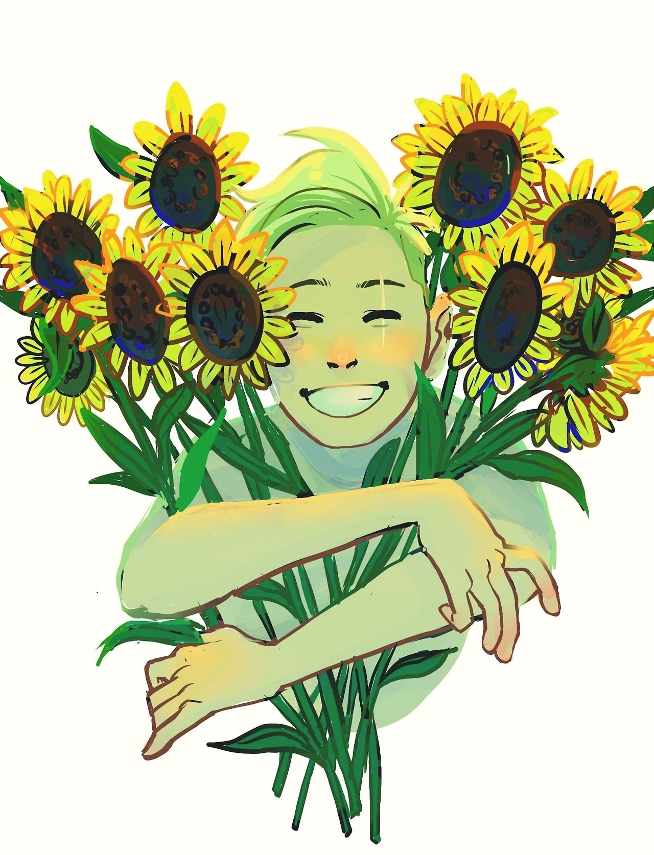 Fyll a young nature spirit with a sunny disposition and a love of