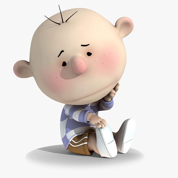 Animated Sad Kid