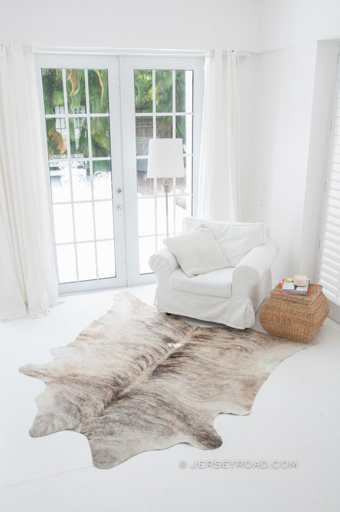 Light Brindle Gray Cowhide Rug | Living rooms, Bedrooms and Room