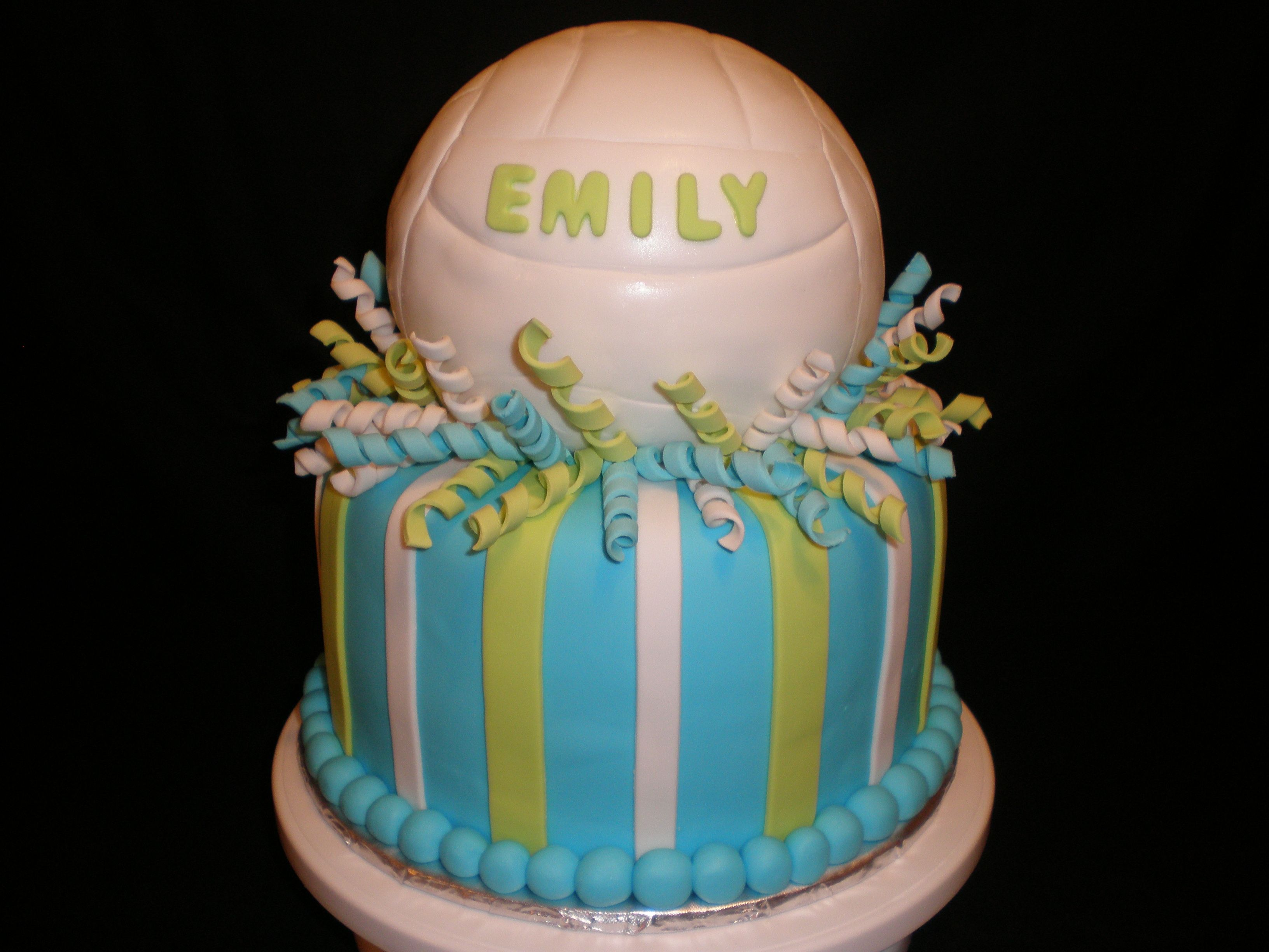 Volley Ball Anyone Volleyball Birthday Cakes Volleyball Cakes Cheerleading Cake