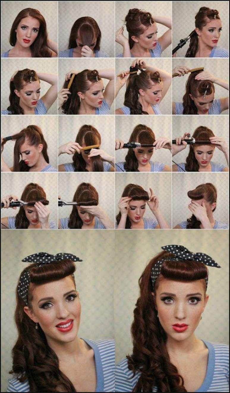 Ihr Gesicht Ist Dunn Und Schwach Haar Modelle Einfache Frisuren Retro Hairstyles Tutorial Retro Hairstyles Rockabilly Hair