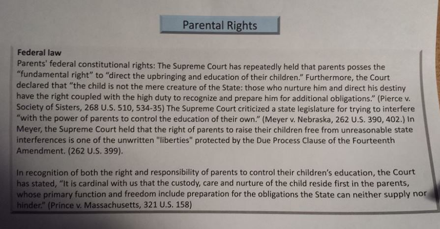 Know Your Parental Rights Parental Rights