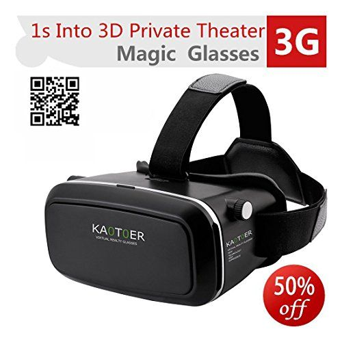 bd4570772864 Kaotoer 3D VR Glasses VR Headset Movie Visor 3D Vr Virtual Reality Glasses  Innovative Design Fit for iOS and Android Smartphones Within 356 Inches    Check ...