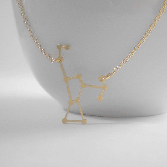 Orion Constellation Necklace Delicate 14k Gold by BeauAndStella