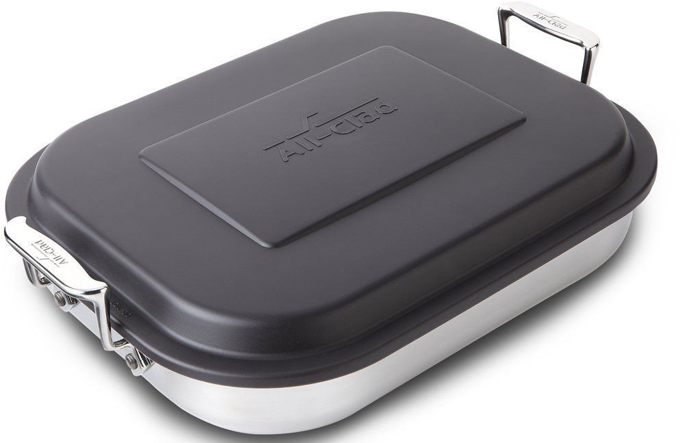 Allclad stainless steel lasagna pan with lid specialty