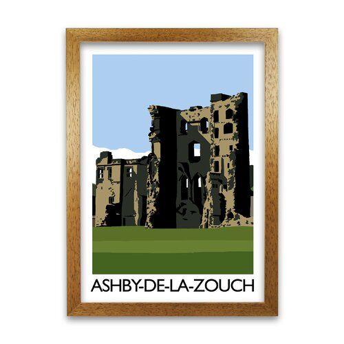 Photo of Gerahmter Grafikdruck Ashby-De-La-Zouch von Richard O'Neill Corrigan Studio Rahmenart: Honigfarbene Eiche, Größe: 59,4 cm H x 42 cm B