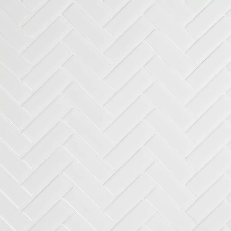 Domino 10 83 X 12 2 Porcelain Mosaic Tile In White In 2020 Porcelain Mosaic Tile White Herringbone Tile Tiles