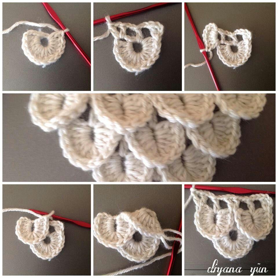 Crochet step by step | erenayım | Pinterest | Puntadas, Cocodrilos y ...