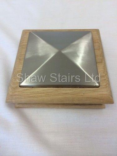 Best Unique Modern Brushed Flat Newel Post Stair Caps Newel 400 x 300