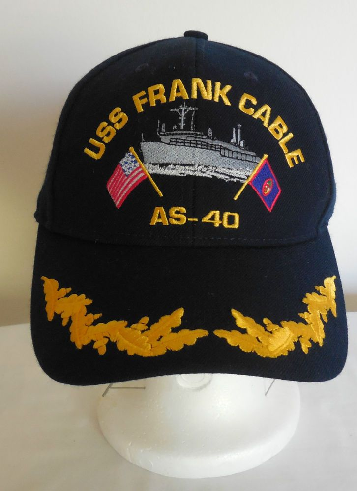 4f226aba4 USS Frank Cable AS-40 US Navy Military Cap Hat | Stuff to Buy ...