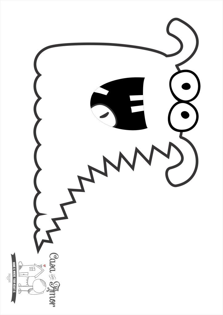 monstro para colorir 5 | Monstruos | Pinterest | Moldes, Imágenes y ...