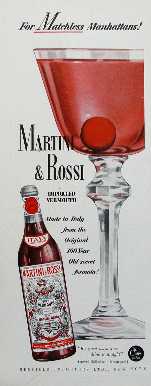 1951 Martini Rossi Ad Retroreveries Martini Martini Rossi Dry Martini