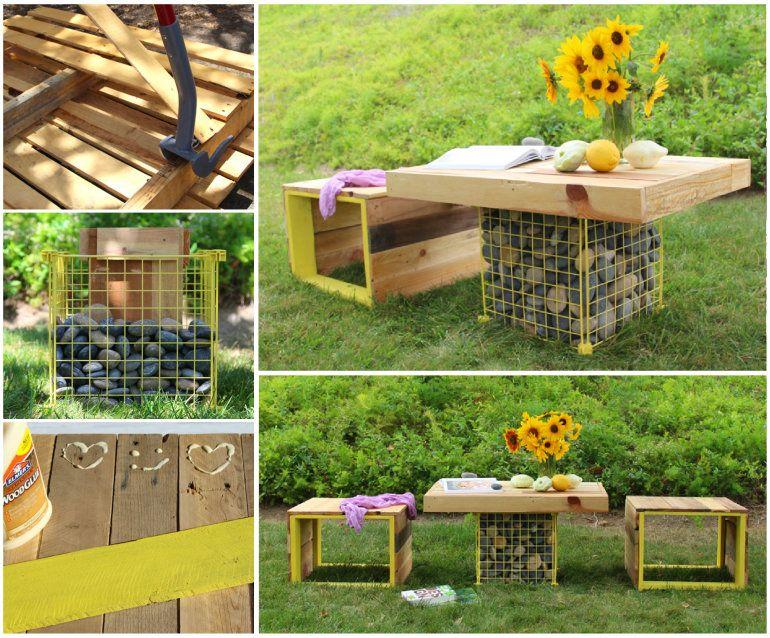20+ Ideas Muebles de Exterior Hechos con Palets | Muebles de ...