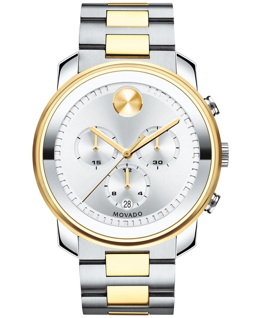 98c83f69d Movado Men's Swiss Chronograph Bold Two-Tone Stainless Steel Bracelet Watch  42mm 3600432