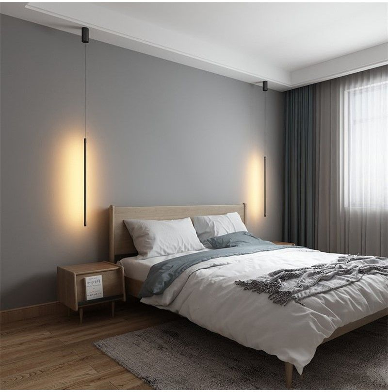Minimalist Bedroom Bedside Hanging Light Fixtures