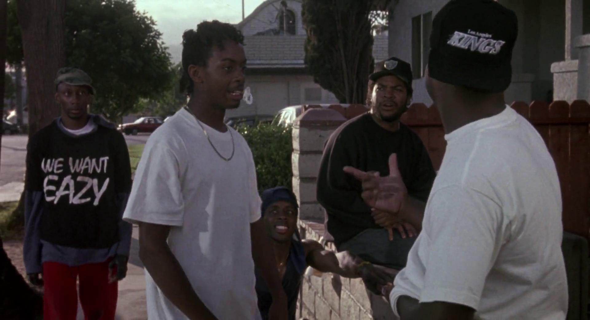 Boyz N The Hood 1991 Man Wearing Eazy E Shirt Gets Beatdown By Ice Cube Ex Nwa Bandmate Turned Rival Hood Recent Movies Turn Ons