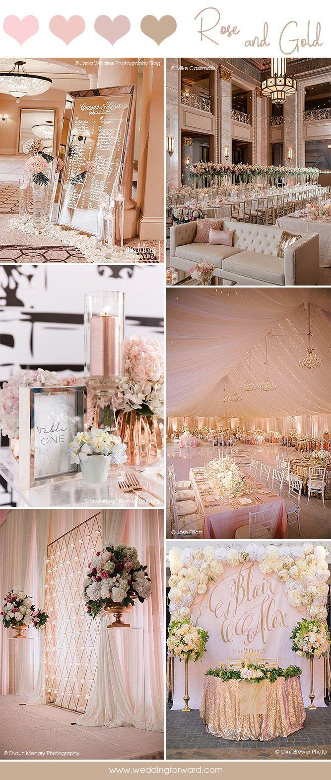 Wedding decoration ideas colors   Glamorous Rose Gold Wedding Decor Ideas  Rose gold weddings