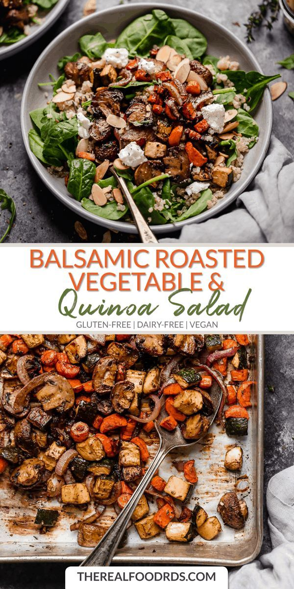 Photo of Balsamic salad with roasted vegetables and quinoa – Daniel almost – #BalsamicoS …