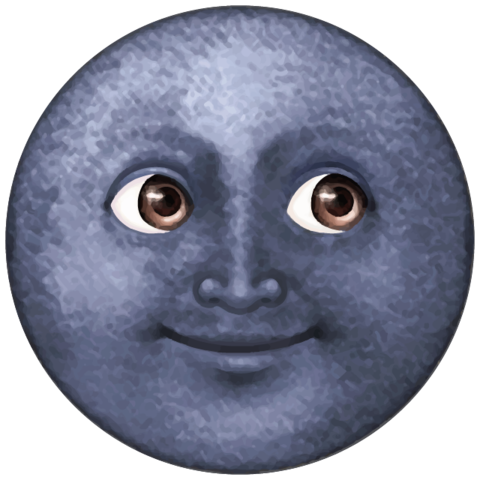 Dark Blue Moon Emoji Moon Emoji Black Moon Emoji Emoji