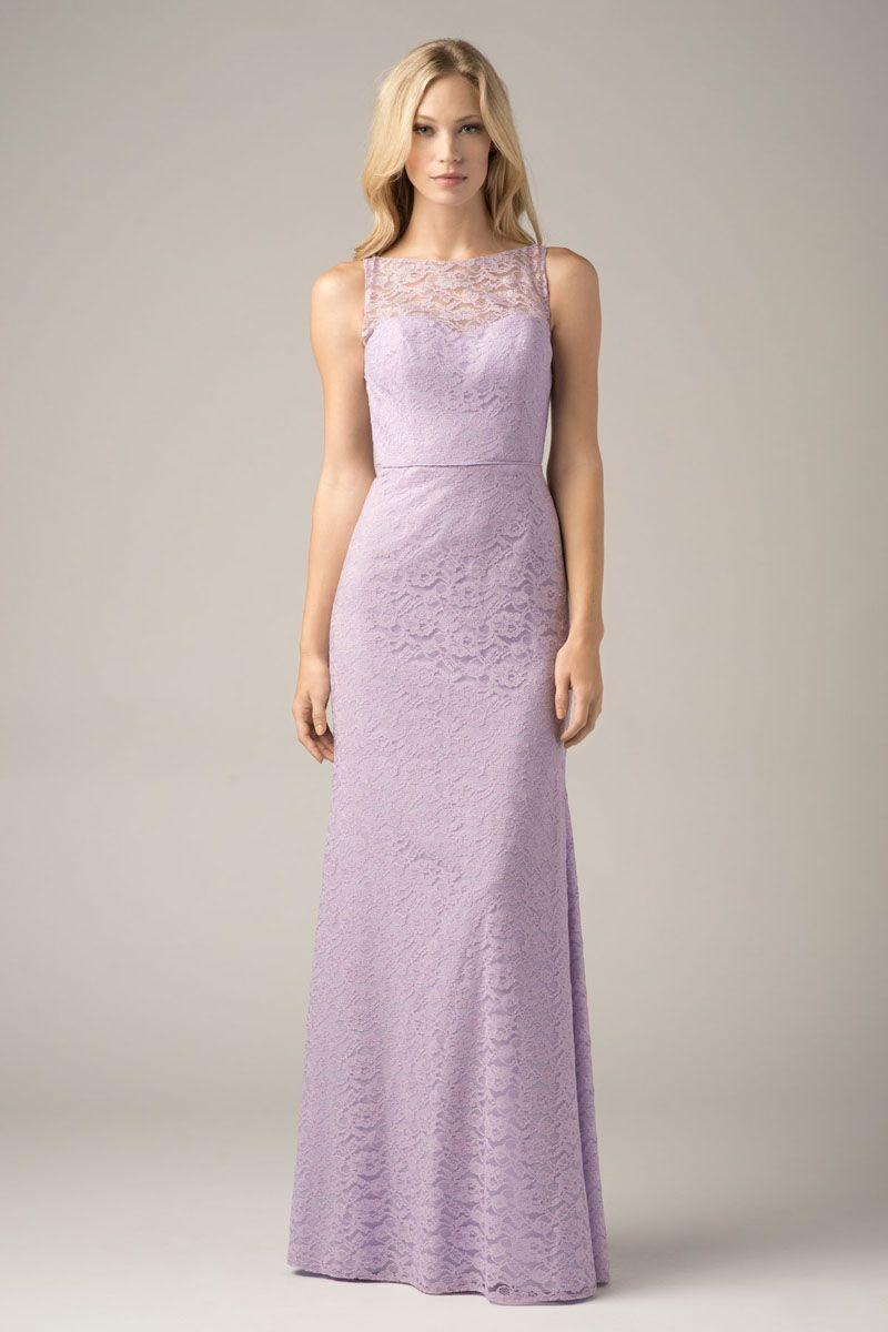 Find bridesmaids dresses with lace overlay