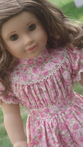 Lovely Floral Pioneer Dress For American Girl Or Similar 18-Inch ...
