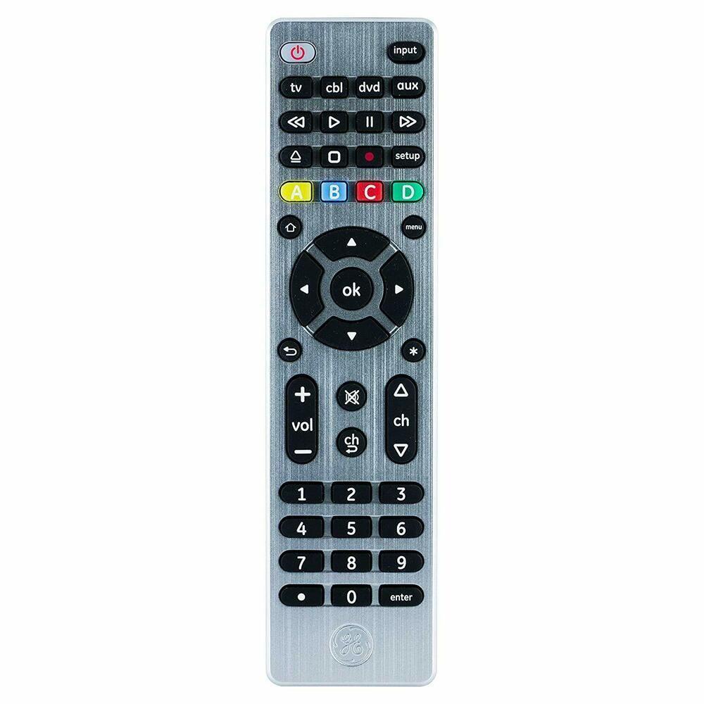 GE 4 Device Universal Remote, Smart TVs, LG, Vizio, Sony