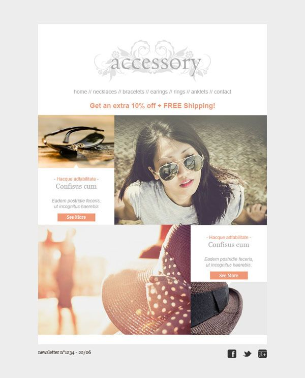 Templates Emailing Accessory Sarbacane  Web Design