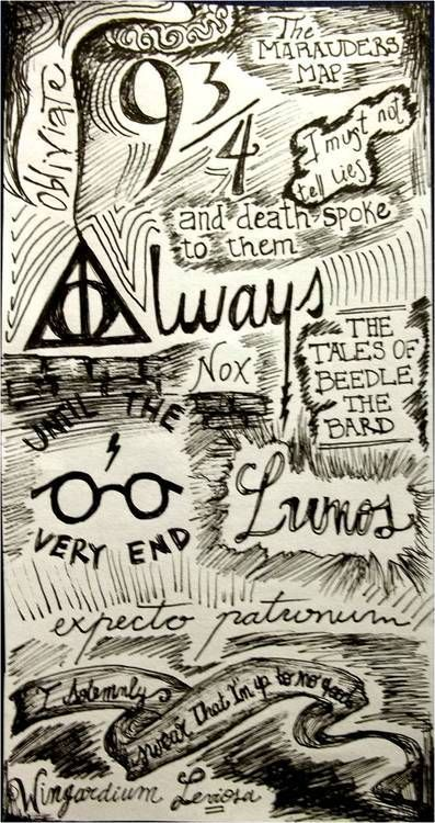 Until the very end via tumblr harry potter harry potter drawings harry potter wallpaper - Harry potter dessin ...