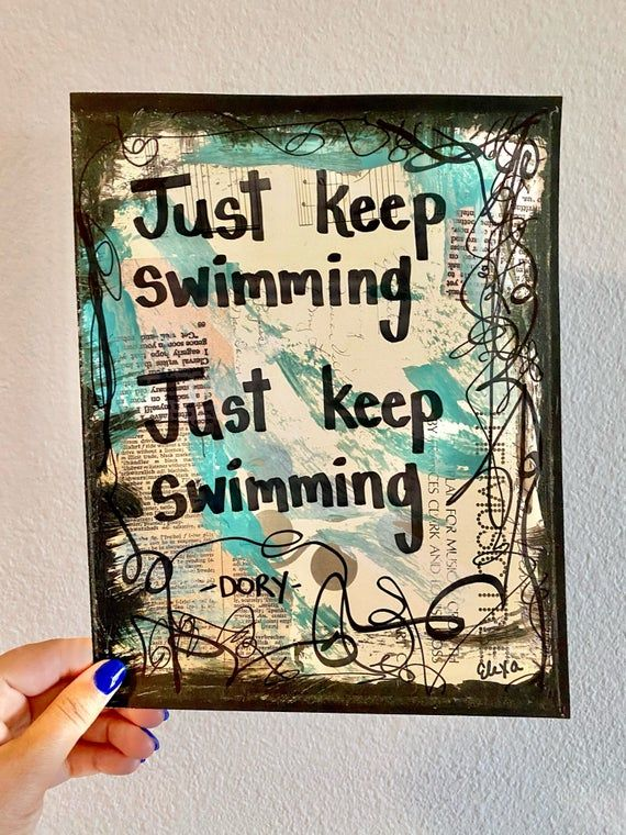 étonnant  Mot-Clé Finding Nemo Dory Quote Movie Disney Pixar Inspirational Gifts For Her Kids Room Graduation Gift Ide