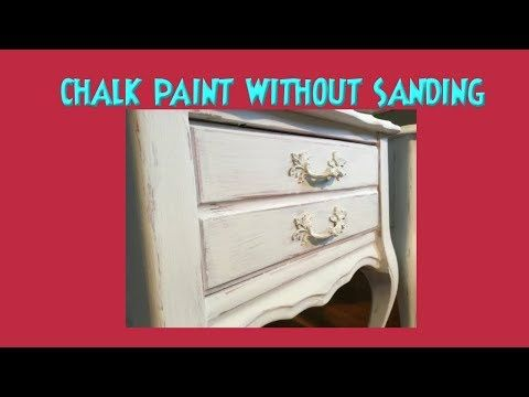 Chalk Paint REAL WET DISTRESS! NO SANDING! Get Washed & Distressed ...
