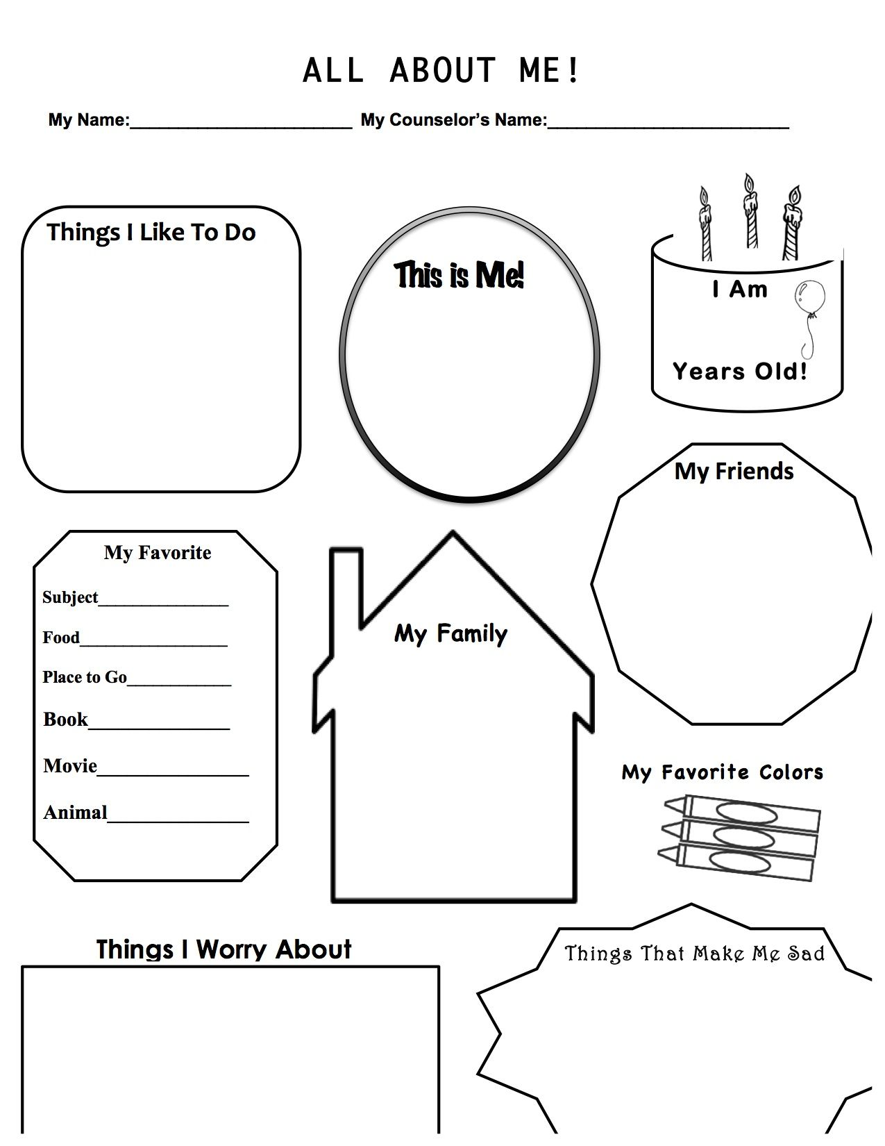 This Is A Work Sheet I Designed For When I Have A First Therapy Session With A Child It Allows For Me Bu Counseling Kids Therapy Worksheets Adolescent Therapy