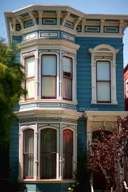 Bay Windows And Bright Colors On Victorian House Victorian House Colors Exterior Paint Colors For House San Francisco Victorian Houses