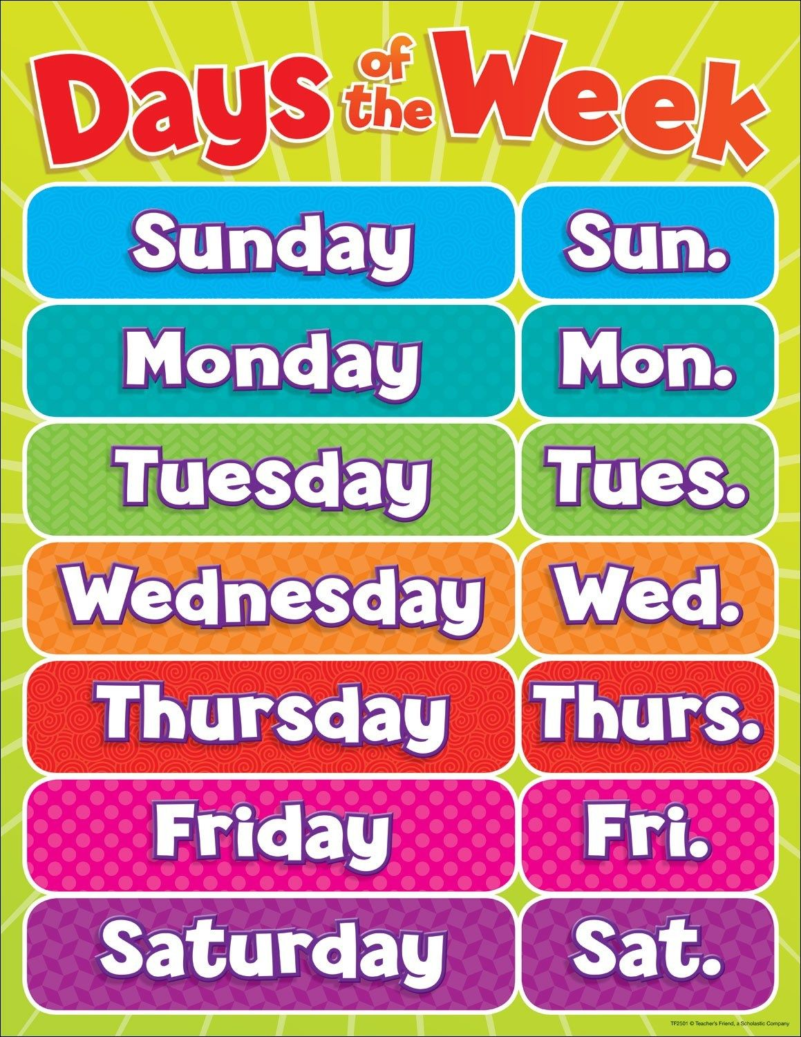 Days Of The Week Dataset