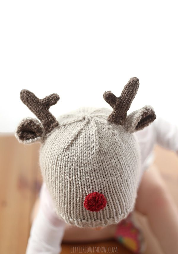 Tiny Reindeer Hat Knitting Pattern | Reindeer hat, Knit patterns and ...