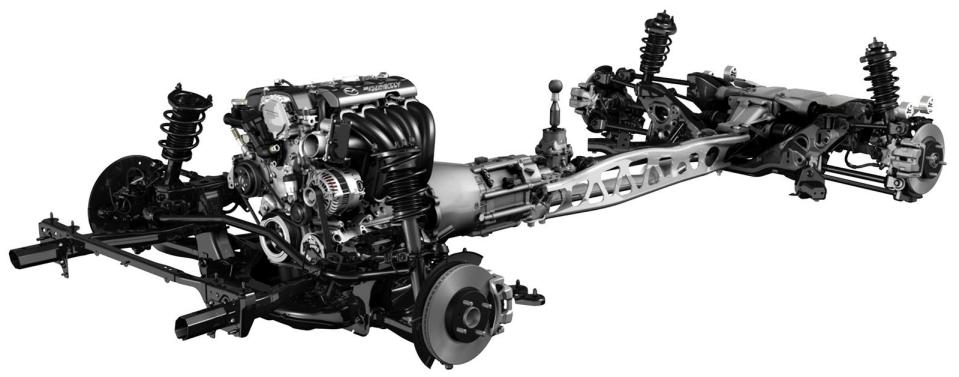 Mazda MX-5 bare chassis | Mazda mx5 | Pinterest | Mazda, Mazda mx ...