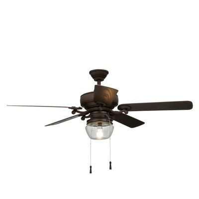 Home decorators collection bromley 52 in led indoor outdoor bronze ceiling fan 34346 at
