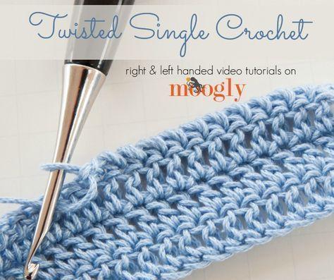 Twisted Single Crochet #crochetstitchestutorial