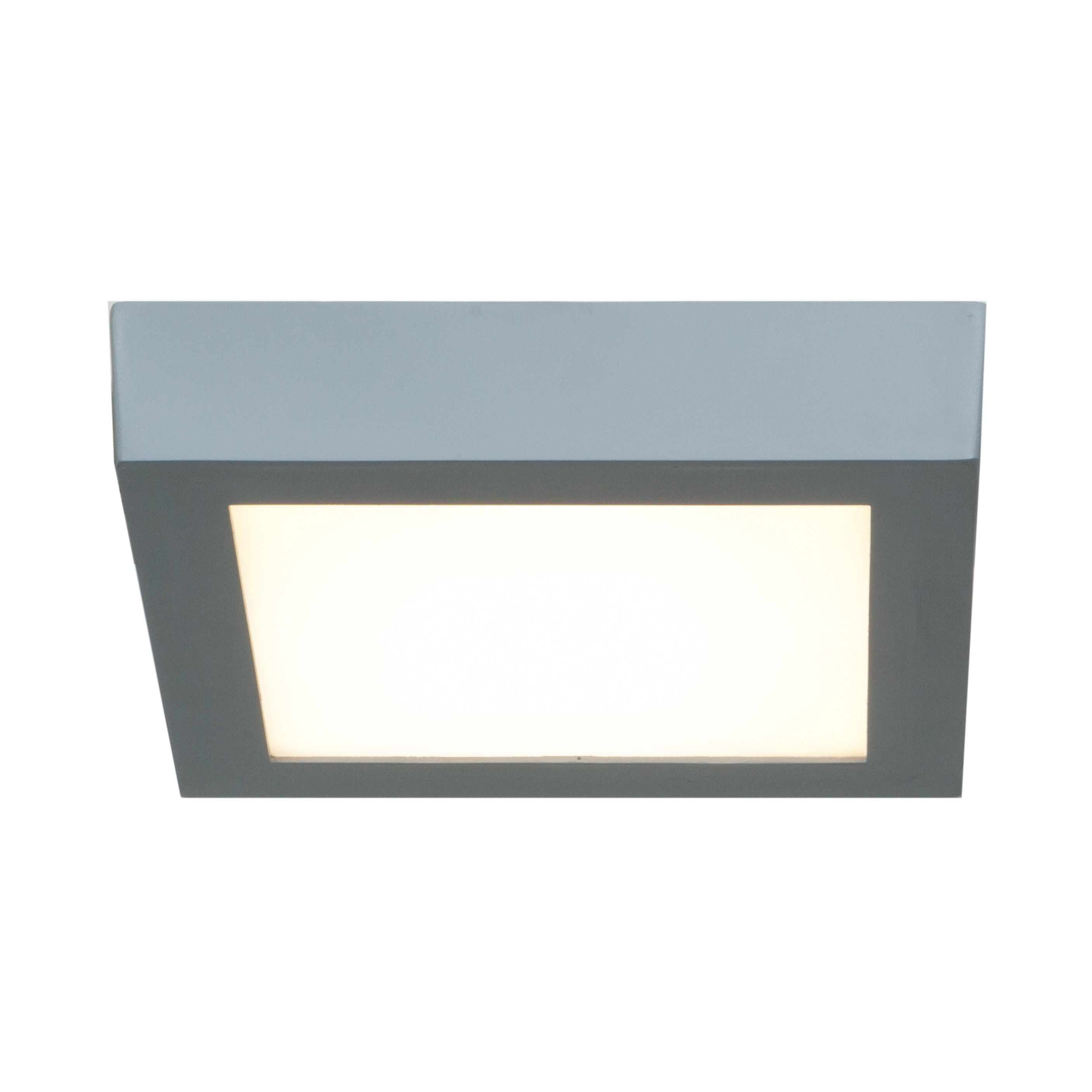 Access Lighting Strike LED Square 7-inch Flush Mount, Silver (Silver ...