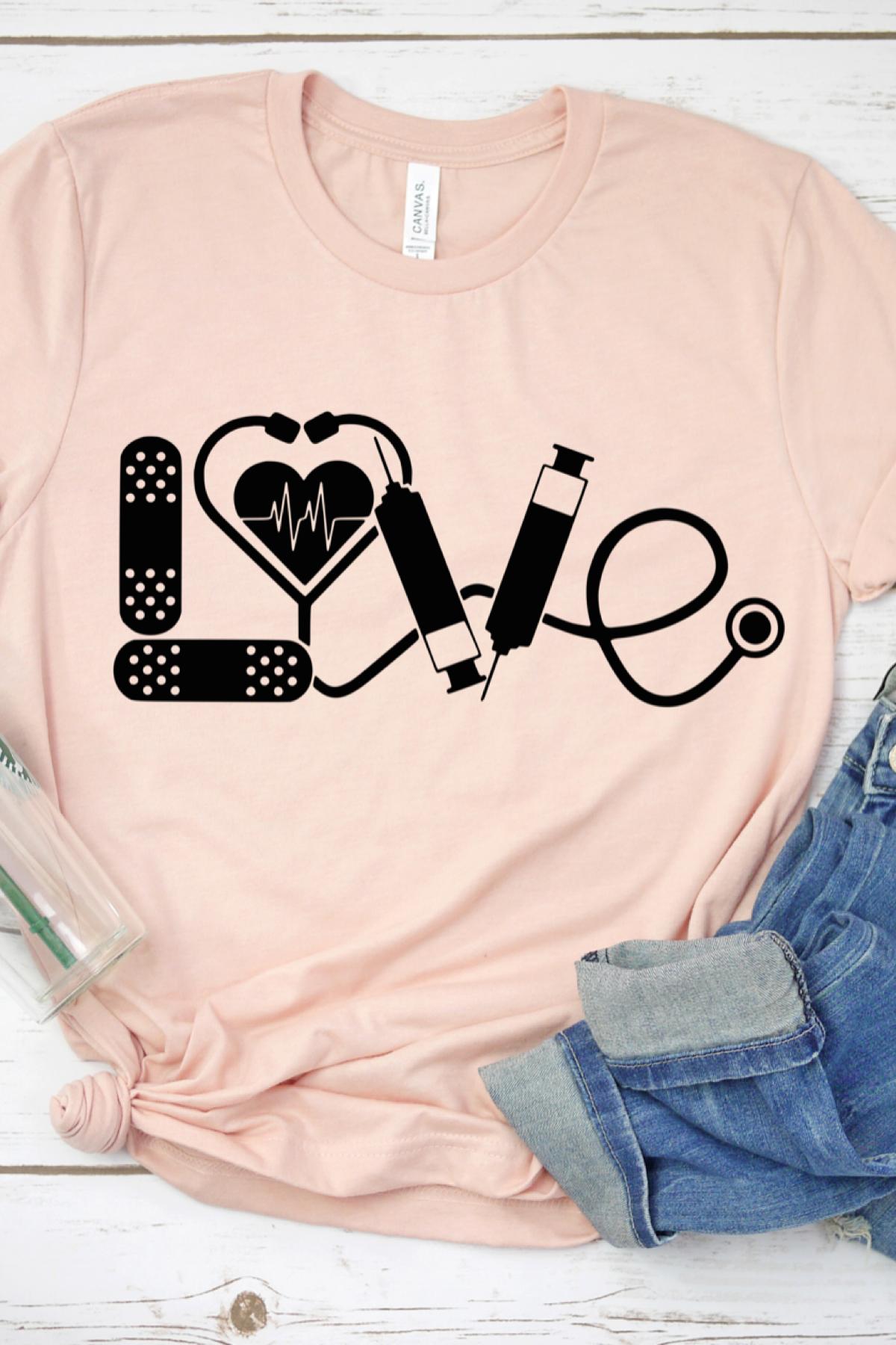Love Shirt, Nurse Shirt, Nursing Student, Nurse Appreciation, Doctor Shirt