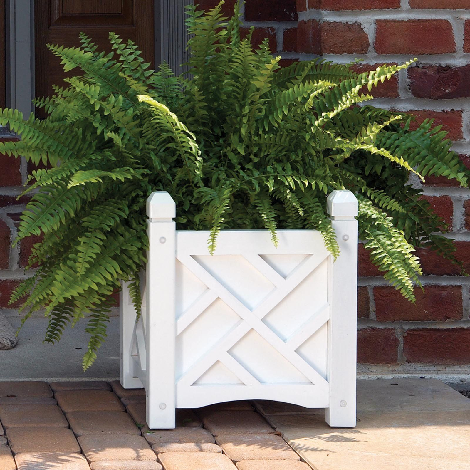 White Outdoor Patio 36 Deluxe Large Garden Planter Flower: Have To Have It. Solid Wood Chippendale Planter Box $56.99