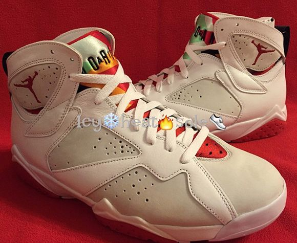 Air Jordan 7 Hare 2015 Another Look. The Hare Air Jordan retro will have Nike  Air on the insole and comes with a retro card. 18fca8281