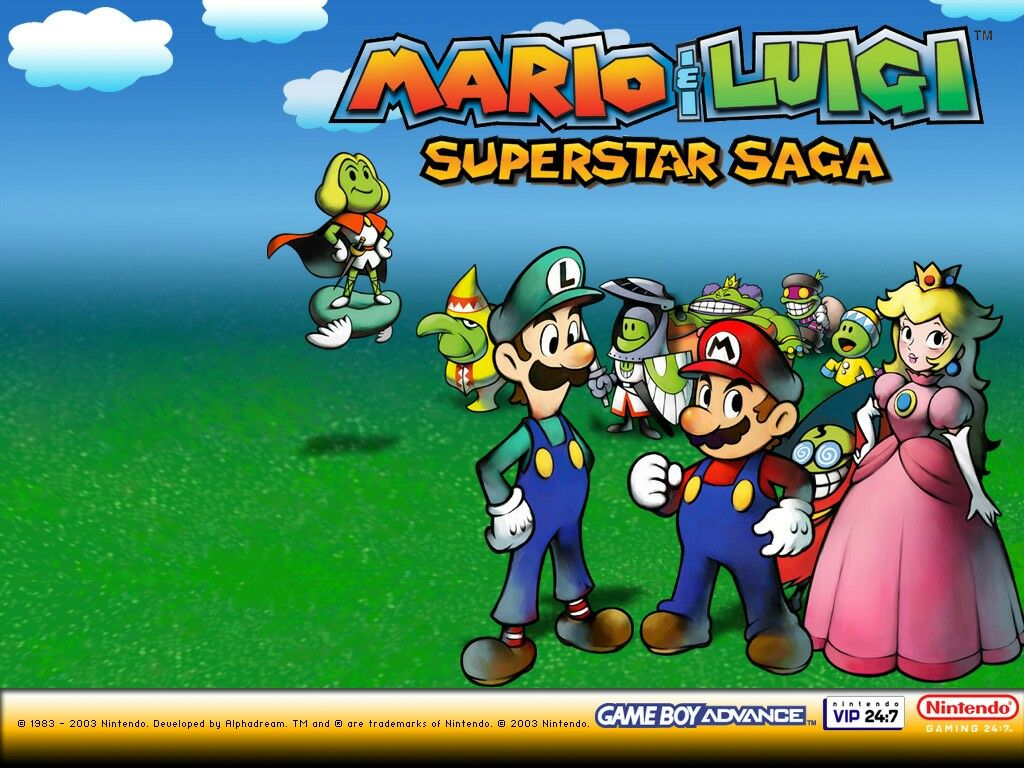 Mario Luigi Superstar Saga Wallpaper Mario And Luigi Luigi