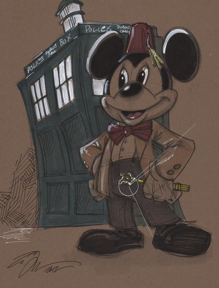 Disney and Doctor Who. The artist is Tom Hodges. www.tomhodges.com