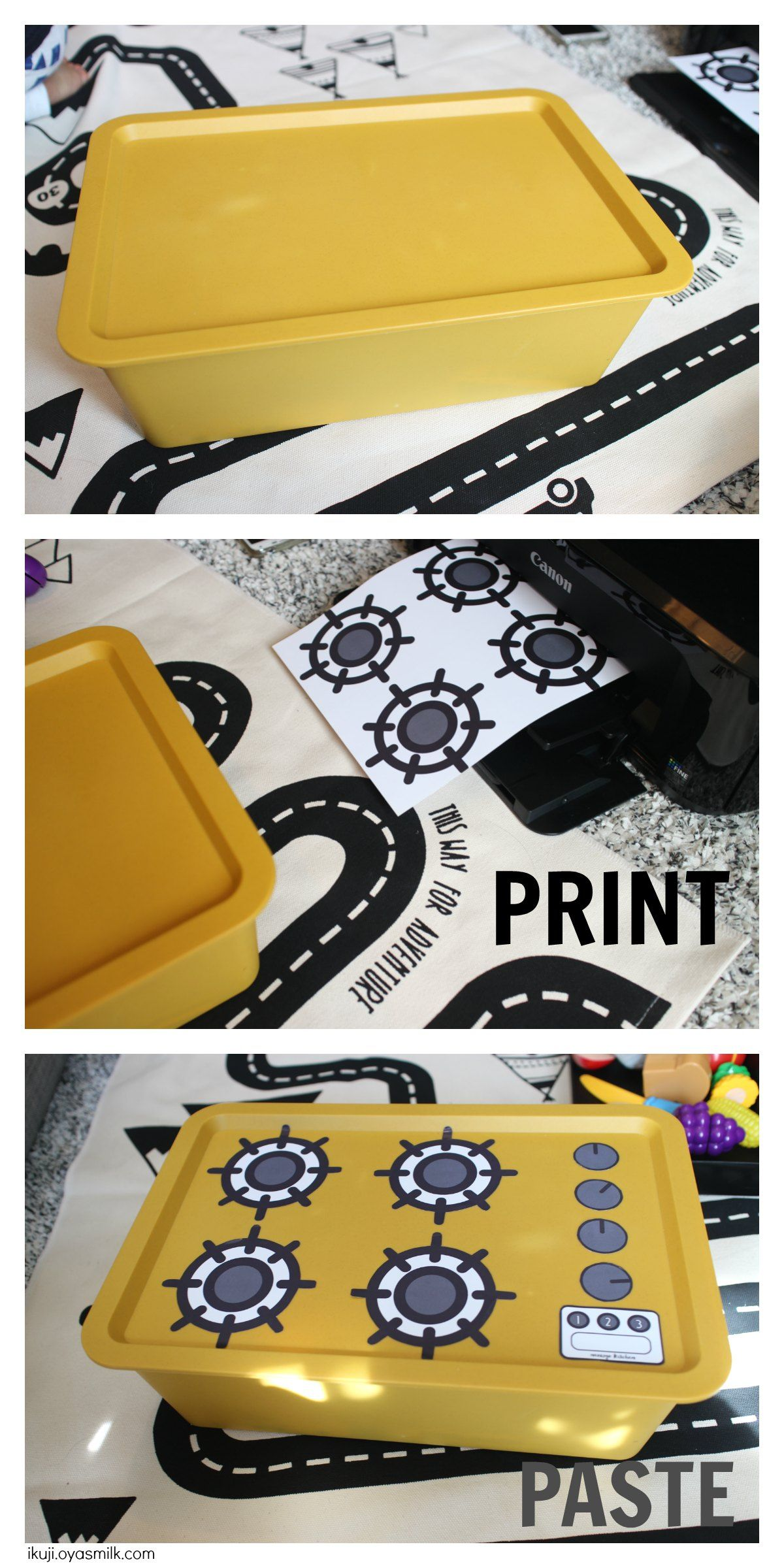 How To Make An Easy Diy Kitchen Stove Free Printable Kitchen Stove Just Print And Paste On A Box To Create A Little Diy Toy K 子供向けクラフト キッズアクティビティー 手作りおもちゃ 保育園