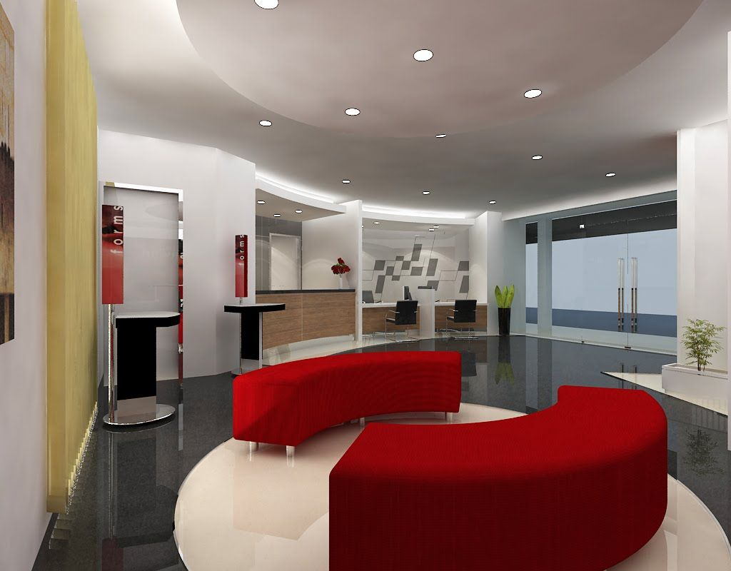 Luxury Red Waiting Room Design  Work spaces  Waiting