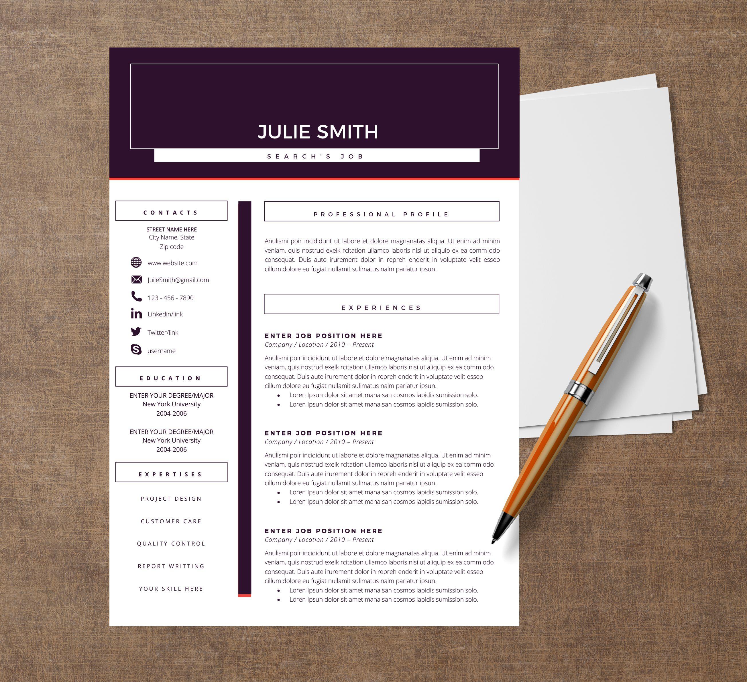 Curriculum Vitae Sur Deux Pages Pour Pouvoir Mettre En Avant Vos References Et Vos Experiences Possible De Modifier S Curriculum Vitae Curriculum Creation Cv