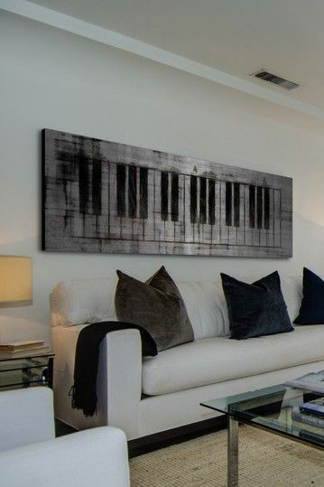Brushed aluminum keyboard wall art Boom -D A Music in 2018