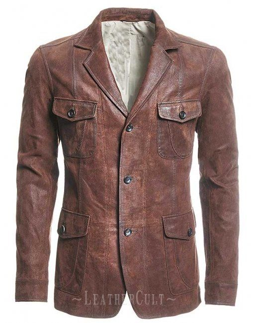 Retro Leather Jacket Nice Rugged Style And Slim Fit Leather Jacket Men Leather Blazer Mens Jackets