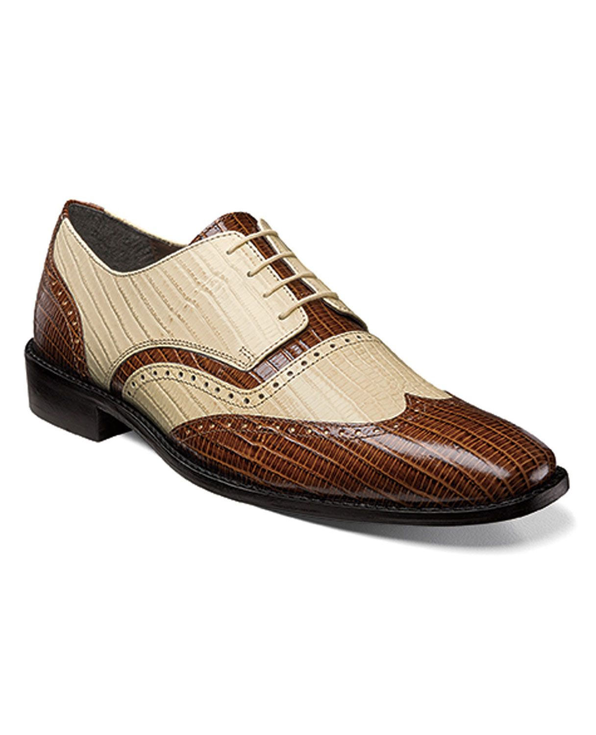 38a165de0 These Stacy Adams dress shoes modernizes old-time charm. The lizard skin  leather make the perfect .