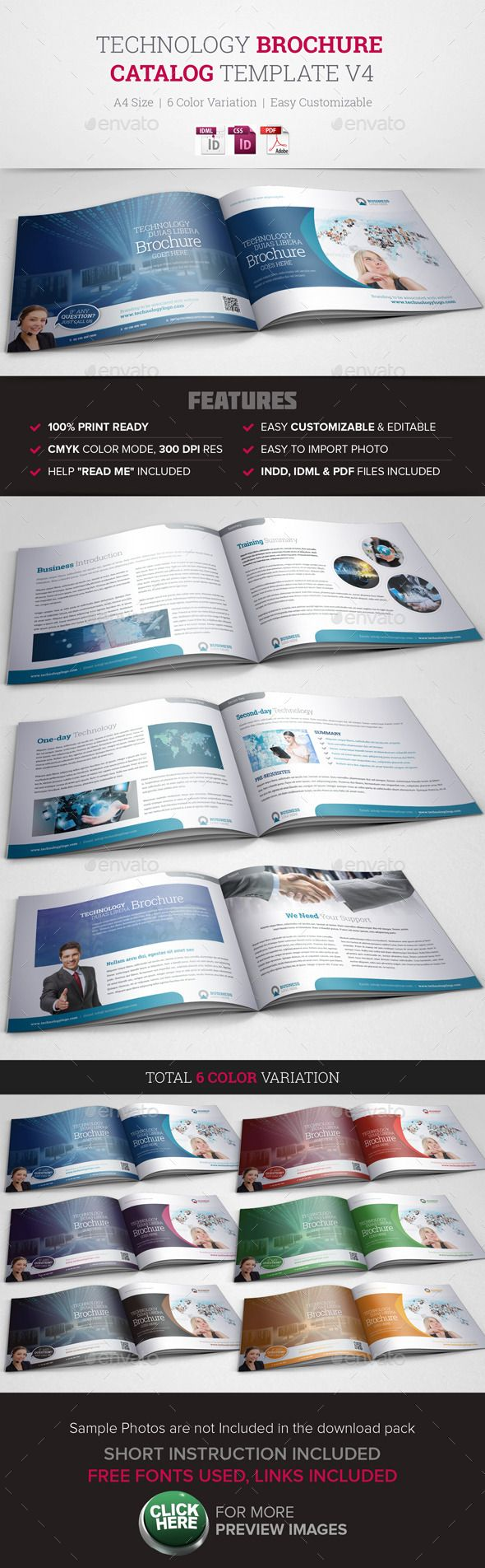 Technology Brochure Catalog Template V  Brochures Template And